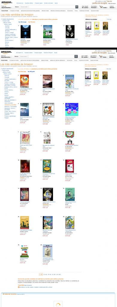 Luna Azul Tormenta de Arena y Mar de Serenidad en los primeros puestos de Amazon Kindle Juvenil