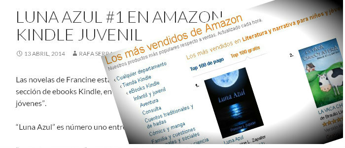 Luna Azul #1 en Amazon Kindle Juvenil