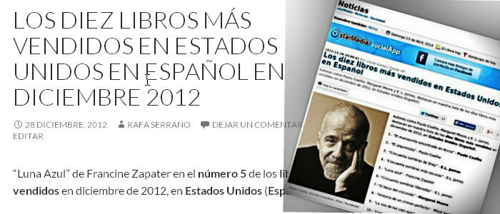 Los diez libros más vendidos en Estados Unidos en Español en Diciembre 2012