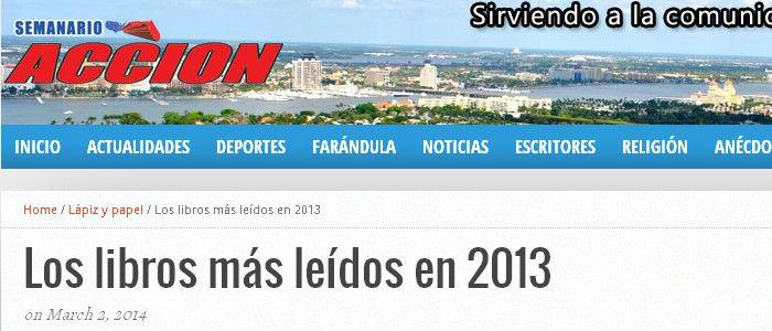 LUNA AZUL ENTRE LOS LIBROS MÁS LEÍDOS EN 2013